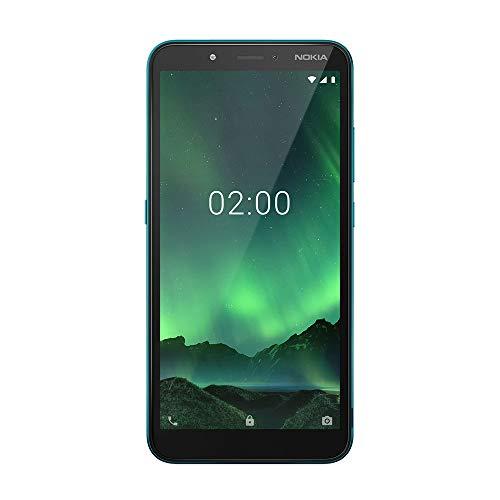 Smartphone Nokia C2 16GB + 16GB Cartão de Memória 1GB RAM Tela de 5,7 Pol. HD+ Câmera Traseira 5MP + Flash Frontal Verde Ciano NK011