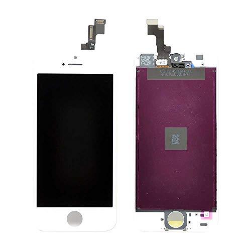 Kit Tela Display Lcd Touch Screen Iphone 5s Com Aro Branco A1457 A1433 + Bateria Iphone 5s 1560Mah