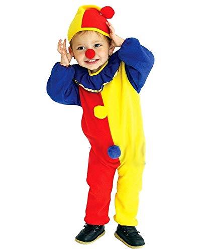 Disfraz de payaso - circo - disfraces para niños - halloween - carnaval - color amarillo - unisex - talla s - 3/4 años - idea de regalo original
