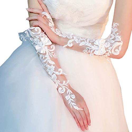 Gants de mariée mariage robe de soirée dentelle longs gants A20