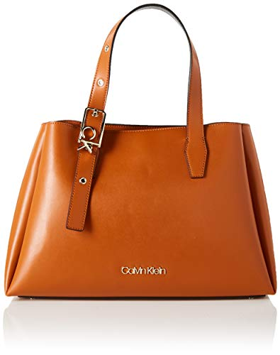 Calvin Klein Women's Tote, Cognac, One Size