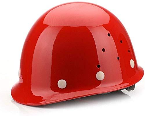 XZ Casco de seguridad portátil Trabajador de la construcción Casco-Frp Casco Ingeniería de la construcción Seguro laboral transpirable Energía Minero Andamios de alta resistencia Trabajo aéreo Escala