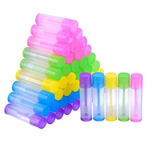 Frcolor 100pcs 5g tubes de baume à lèvres vider le rouge à lèvres clair contenant le brillant à lèvres bouteille avec Twist Bottom et Top Cap