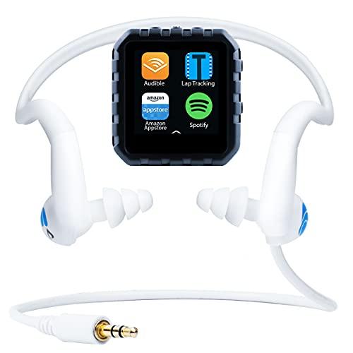 Delphin Micro-Tablet, wasserdicht, kompatibel mit Audible und mehr, mit eingebautem Lap-Tracking! (16 GB, HydroActive)