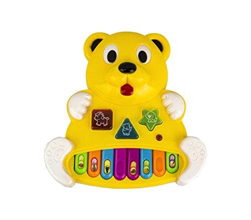 MEDIA WAVE store Gioco Musicale per Bambini 104407 Pianino CUCCIOLINO Gioca e impara luci e Suoni (Bianco)