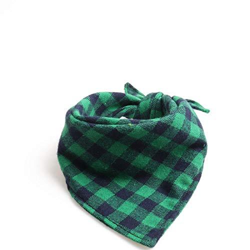 Hondenhalsband, groene speeksel, driehoekige sjaal, Britse stijl, dubbellaags, gentleman zachte veilige hond halsband voor alle seizoenen, ademende gewatteerde gezellige lichte outdoor wandelen E, S 34*34*50