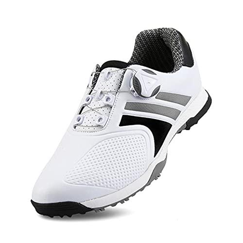 HANHJ VIIPOO Zapatos De Golf Antideslizantes Impermeables para Hombres, Zapatos Deportivos Al Aire Libre Cómodos Y Suaves, Zapatos De Entrenamiento De Entrenador Profesional,Black-EU41