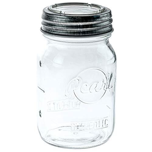 Pearl Mason Sunny Cap Aufbewahrungsgläser, Vorratsglas mit Glasverschluss   6er-Pack   500ml   + Glasdeckel + Dichtring