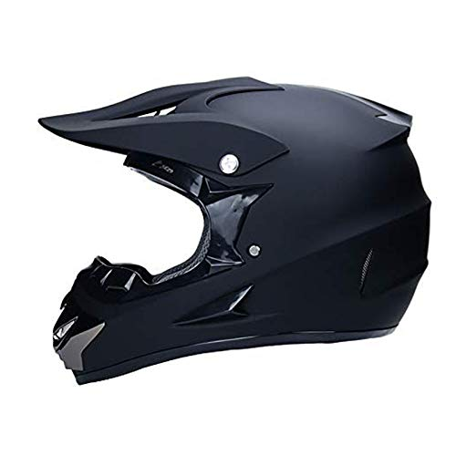 CZLWZZD Motocross-Helm, Handschuhmaske und Schutzbrille (4er-Set) DOT-geprüfte Full Face Crash-Motorradhelme Kinder Quad Bike ATV Go-Kart Helm Gewicht 1200g 5 Style (52-59 cm)