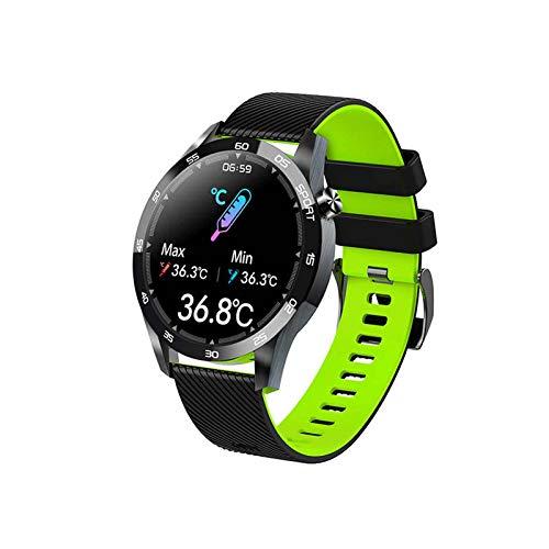 Reloj Inteligente de 1.3 Pulgadas Pantalla IPS HD Bluetooth Frecuencia cardíaca Presión Arterial Detección del sueño IP67 Correa de Silicona Impermeable Reloj Deportivo