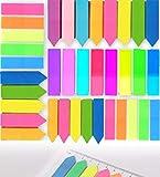 Index Tabs, Marker Kleine Zettel, Klebezettel Page, Mini Haftstreifen, Haftstreifen Haftmarker Film, für Seitenmarkierung, Tabellen, Dokumenten, 8 Farben, 5 Set - 730 Stück