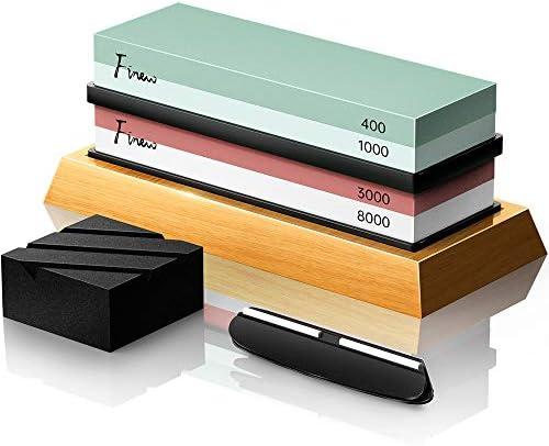 Knife Sharpening Stone Set Finew Professional Whetstone Sharpener Stone Kit Premium 4 Side Grit product image