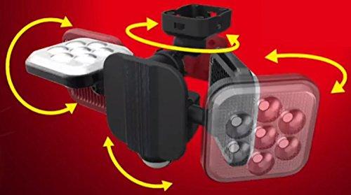 『ムサシ RITEX フリーアーム式LEDセンサーライト(8W×2灯) 「コンセント式」 防雨型 LED-AC2016』の4枚目の画像