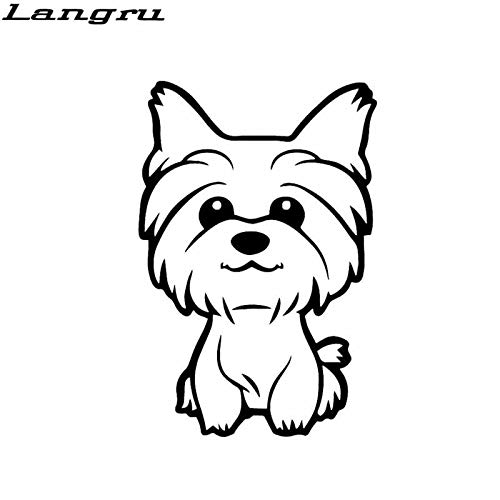JYIP 10.8x16cm Personalized Yorkie Yorkshire Terrier Doggy Decal Cute Dog Vinyl Car Sticker Accessories Gold