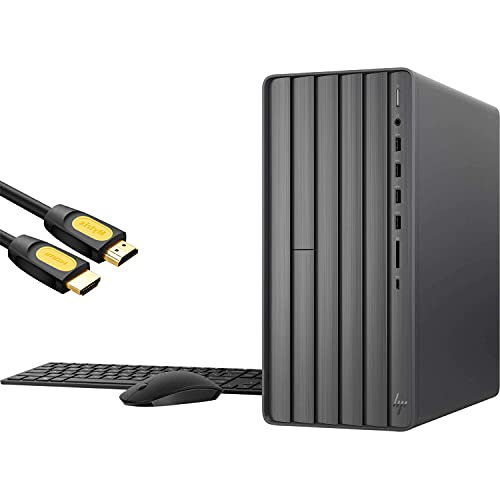 HP Envy Gaming Desktop PC, Intel Hexa-Core i7-10700F, GeForce GTX 1660 Super 6GB, 16GB DDR4 RAM, 512GB SSD+1TB HDD,USB-C, DVD, RJ45, DP/HDMI/DVI, Mytrix HDMI Cable, Win 10 w/Keyboard and Mouse
