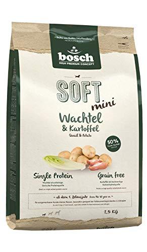 bosch HPC SOFT Mini Wachtel & Kartoffel | Hundefutter | 1er Pack (1 x 2,5 kg)
