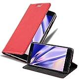 Cadorabo Coque pour Huawei Mate 9 Pro en Rouge DE Pomme - Housse Protection avec Fermoire Magnétique, Stand Horizontal et Fente Carte - Portefeuille Etui Poche Folio Case Cover
