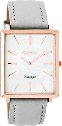OOZOO Timepieces Damenuhr Leder/Sonstige analog Quarzwerk Lederband C8185