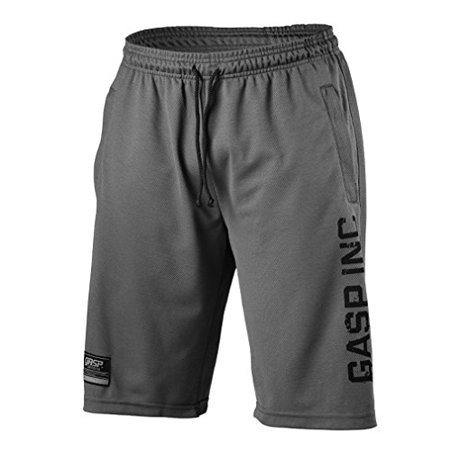 GASP Herren, No 89 Mesh Shorts (Grey), L