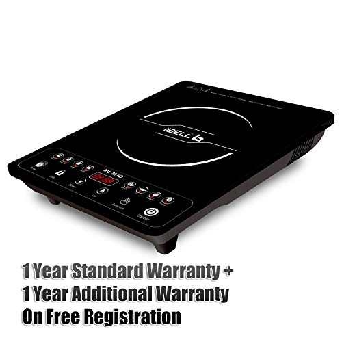 iBELL Hold The World. Digitally! 20YO with Auto Shut Off and over Heat Protection, BIS Certified, 2000W Induction Cooktop, Black