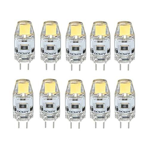 Lampade a led Lampadina LED G4 LED 1.5W 0705 COB SMD 12V Lampadina di cristallo LED Sostituzione di 20W lampada alogena 10Pcs Sostituisci le lampadine a LED (Color : Warm White)