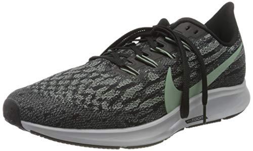 Nike Men's Air Zoom Pegasus 36 Running Shoe, Black/Silver Pine-Wolf Grey, 7 UK