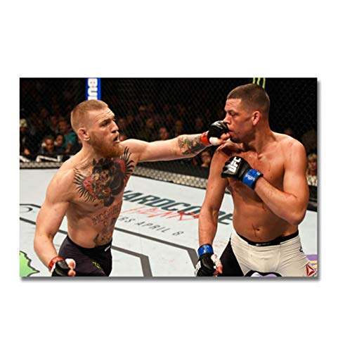 Ignite Wander Conor McGregor vs Nate Diaz Boxing Poster Canvas Paintings Decor Background Wall Murals Bedroom Study Decoration Paintings -20x30 Inch No Frame