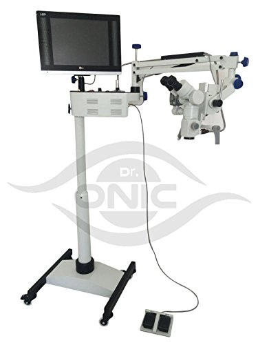 Operating ENT Microscope 3 Step,Floor Type,0-180° Inclinable Binoculars,LED Screen, HD Camera,Beam Splitter Dr.Onic