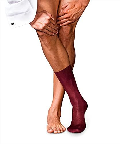 FALKE Herren No. 4 Pure Silk Socken, Barolo, 41-42