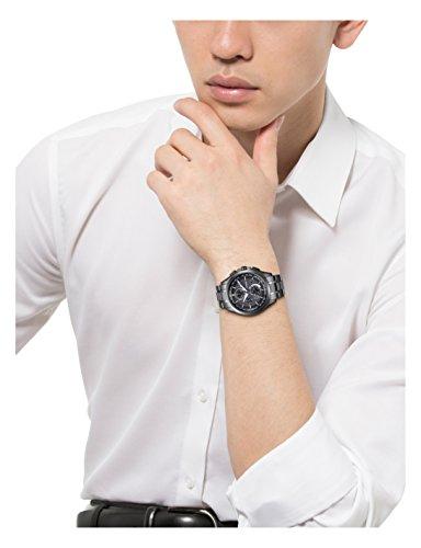 [シチズン]CITIZEN腕時計ATTESAアテッサEco-Driveエコ・ドライブ電波時計ダイレクトフライトDLC仕様AT8044-56Eメンズ