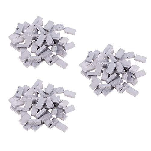 FLAMEER 150pcs Mini Modelos de Ladrillo para Construcción de Escena de Mesa de Arena (Escala 1:16 o 1:35 para Selección) - Gris, 1.1x0.6cm Escala 1/35