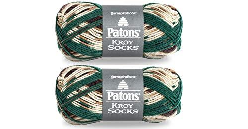 Patons Kroy Sock Yarn - Woodsie - 2 Pack