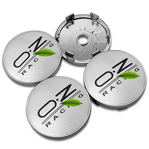 NCUIXZH 4pcs 56 / 60MM Car Wheel Center Hup Caps OZ Racing Insignia Emblema Pegatinas Cubiertas a Prueba de Polvo, para Volkswagen Golf Skoda Accesorios