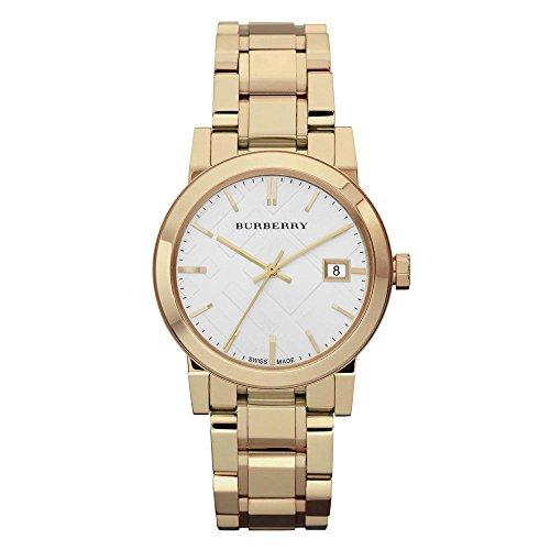 Burberry Reloj, Swiss de las mujeres tono dorado pulsera de acero inoxidable 34mm BU9103