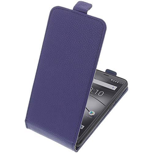 foto-kontor Tasche für Gigaset GS280 Smartphone Flipstyle Schutz Hülle blau