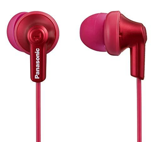 Panasonic Ergofit in-Ear Earbud Headphones Metallic Red (RP-HJE120-RA)