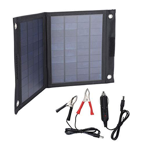 Blantye Sac de Chargeur de Panneau Solaire 20W Module d'Alimentation Photovoltaïque Portable pour Camping Cycliste