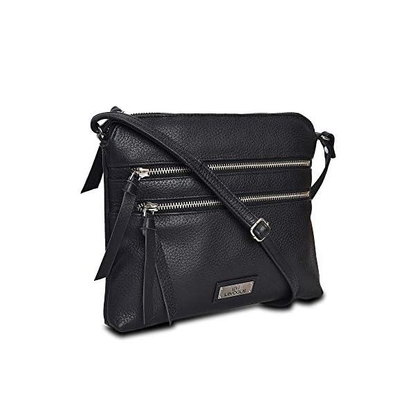 Genuine Leather Crossbody Handbag for Women – Shoulder bag for Womens Handmade...