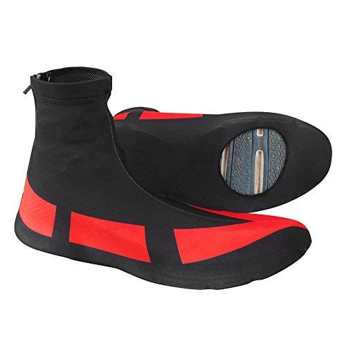 Dilwe Cubrezapatillas de Ciclismo 1 par Cubiertas de Calzado Elásticas Impermeable y a Prueba de Viento Accesorios de Ciclismo para Actividades al Aire Libre(XXL)
