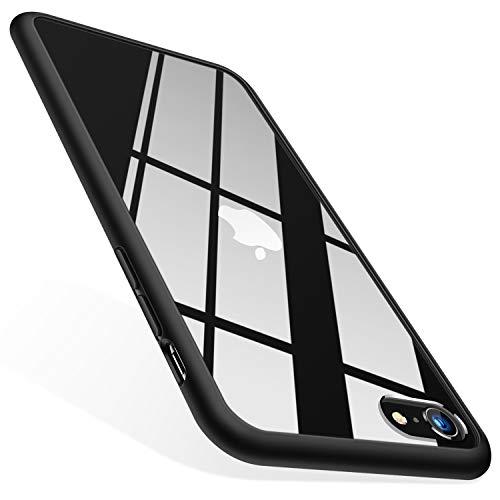 TORRAS HD Hybrid Kompatibel mit iPhone 7/8/SE 2020 Hülle [Transparent & Anti Gelb] iPhone SE Hülle/iPhone 8 Hülle/iPhone 7 Hülle Case Handyhülle für iPhone 7/8/SE 2020-Schwarz