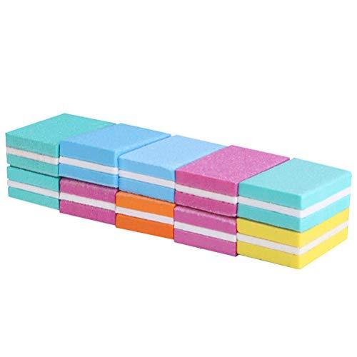 Luxshiny 10 piezas de suministros de uñas esponja lima de uñas reparación de pulido pequeño cuadrado