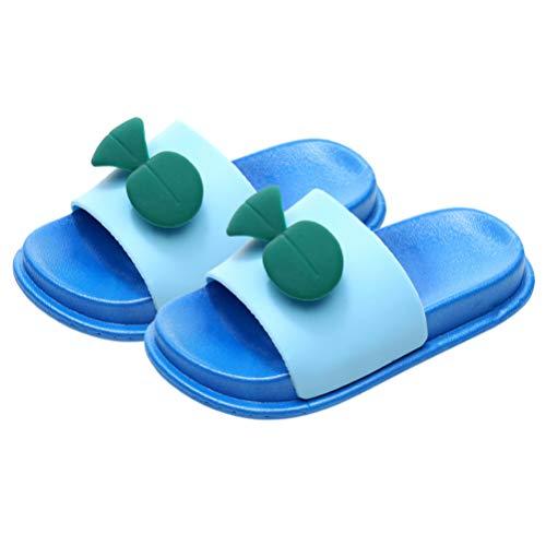 Holibanna Zapatillas de Verano para Niños Sandalias Slip-On de Dibujos Animados de Brotes de Soja Sandalias de Diapositivas de Enfriamiento Transpirable Sandalias de Playa de Dibujos Animados 1 par