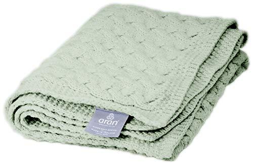 Irischer Aran Strickdecke Decke Überwurf Bettüberwürf | Supersoft Patchwork Sofa Blanket Wolldecke Kuscheldecke aus Merinowolle (22