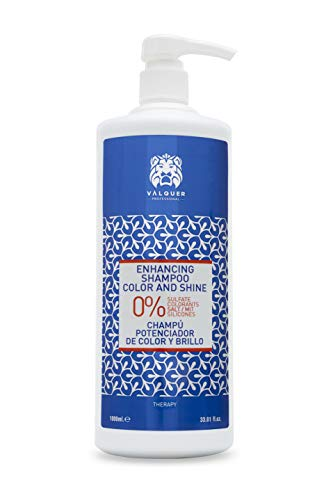 Válquer Profesional Champú Potenciador color y brillo Zero % sin sal, sin sulfatos, sin parabenos y sin Siliconas. Cabellos teñidos - 1000 ml