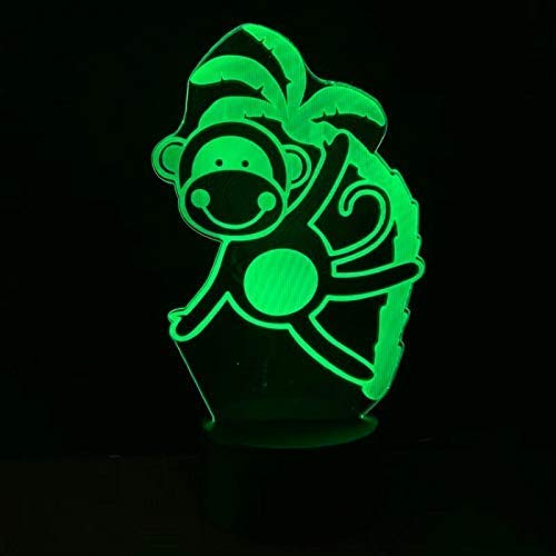 Grappige Led Nachtlamp Aap Nachtlampje voor Kinderen Slaapkamer Decoratie USB Batterij Bediende Led Nachtlampje Kids Verjaardagscadeau A-844