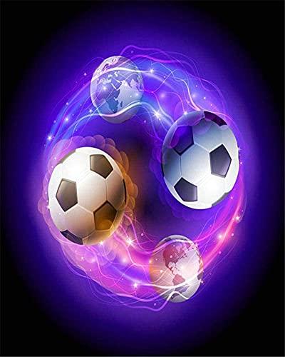 Kits de pintura rápida por números para adultos y niños Magic Spinning Magic Football Kits de regalo de pintura al óleo digital de bricolaje Decoración de arte en lienzo preimpreso -40 *