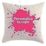 SUPERMOLON - Cojín Personalizado con Relleno Incluido - Regalo San Valentín, Enamorados, Aniversario, Amor - Cojín 40x40 cm con Relleno Incluido