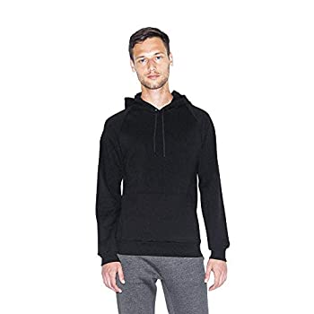 American Apparel Men s California Fleece Pullover Hoodie Black Small