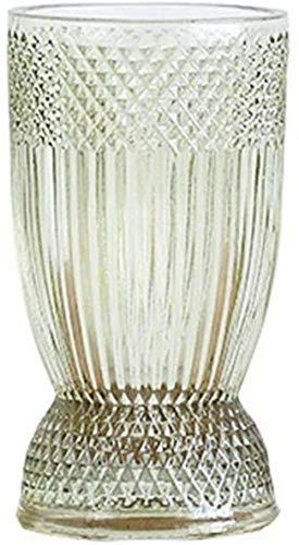 2 kleuren decoratieve vaas, multifunctionele Bloemstuk Vaas Hydroponic Plant fles kan worden gebruikt als een kandelaar Decor Vazen (Size : 10.5 * 10.5 * 19CM)