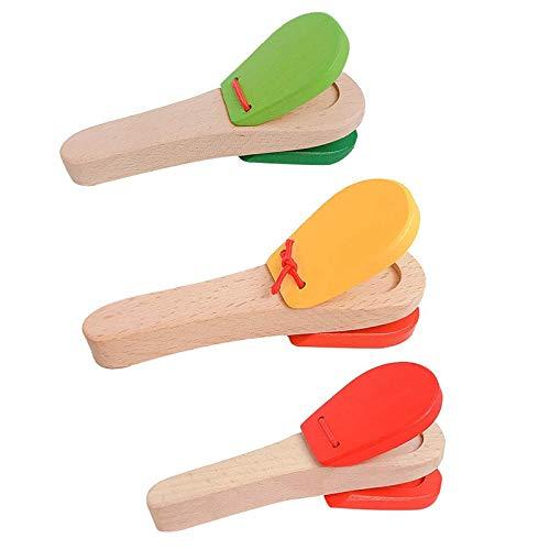 Liseng Instrumento de percusión de madera para niños...